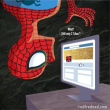 Spiderman social media