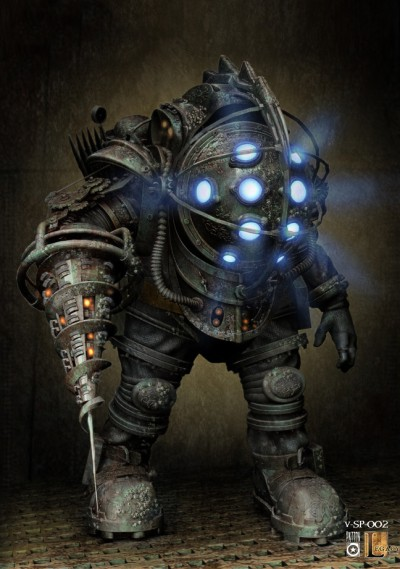 Bioshock Big Daddy concept art