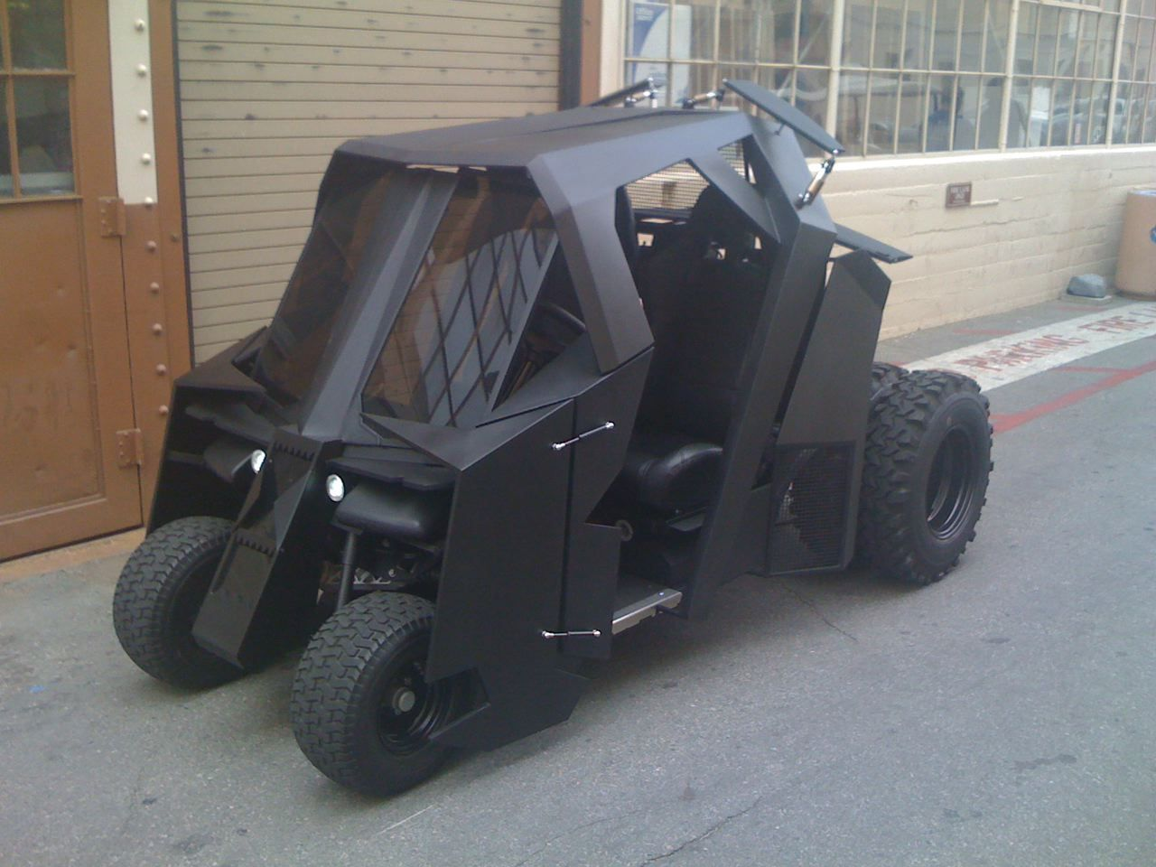 Your Favorite Thing Today: This Batman Tumbler Golf Cart Is Now on eBay...