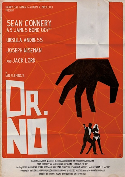 James Bond and Saul Bass Combine for a Great, New Poster Series...
