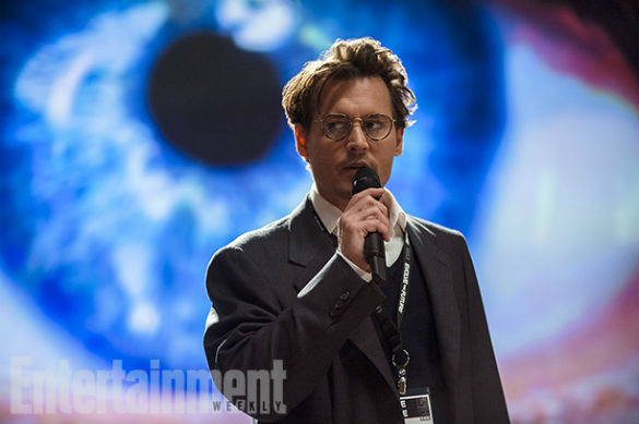 Movie News: Johnny Depp in 'Transcendence' (First Pics); 'Avengers 2' Brings Back War Machine; ...