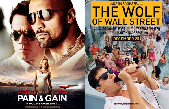The Best Double Features of 2013: 'Pain & Gain' and 'The Wolf of Wall Street'...
