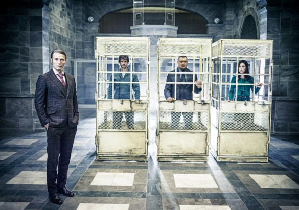 Hannibal%20cages%20(585%20x%20411) Reel TV: Trailers for Danny Boyles Babylon, Halle Berrys Extant, and Hannibal Season 2, Plus Rosemarys Baby Casting