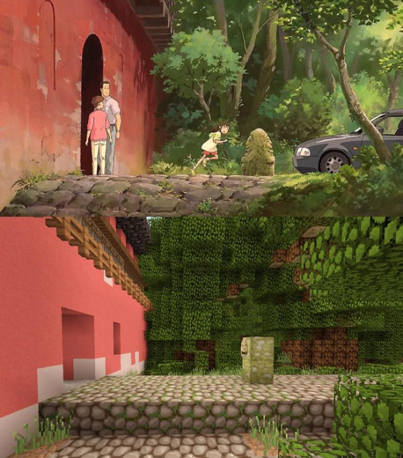Miyazaki%20minecraft%20(585%20x%20665) Miyazaki Meets Minecraft, Plus Dark Souls II and Banner Saga Trailers in Todays Movie Game Roundup