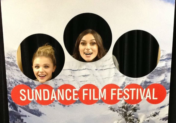 Chloe Grace Moretz and Keira Knightley at 2014 Sundance Film Festival