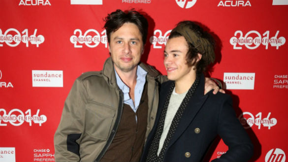 Zach Braff and Harry Styles at Sundance 2014