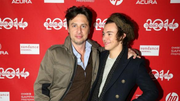 Zach Braff and Harry Styles at Sundance 2014
