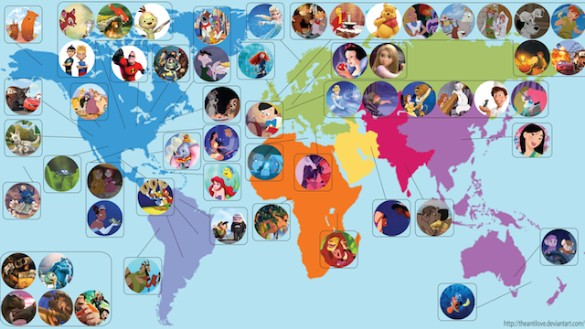 Disney Pixar Map