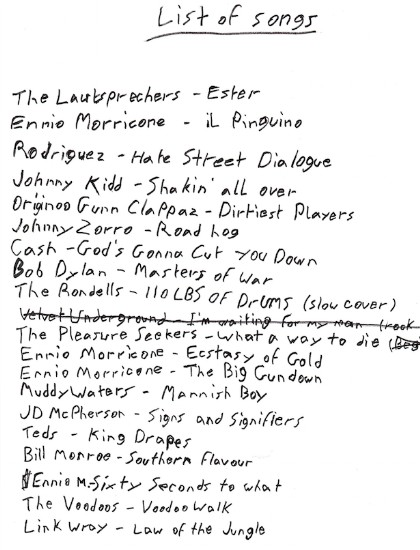Leaked Hateful Eight Song List