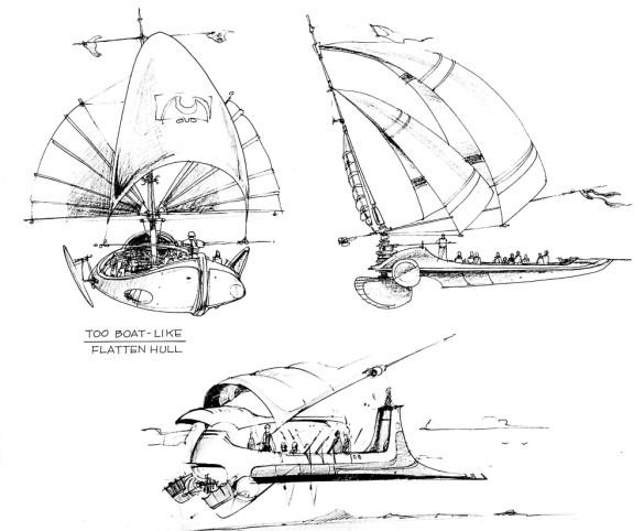 Jabba Sail Barge concept art