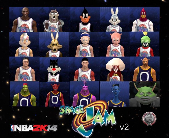 Space%20Jam%20NBA%202K14%20(585%20x%20476) Heres Your Chance, Do Your Dance at the Space Jam... in NBA 2K14, Because an Insane Fan Made It Possible