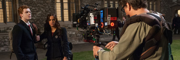 Zoey Deutch on the Set of Vampire Academy