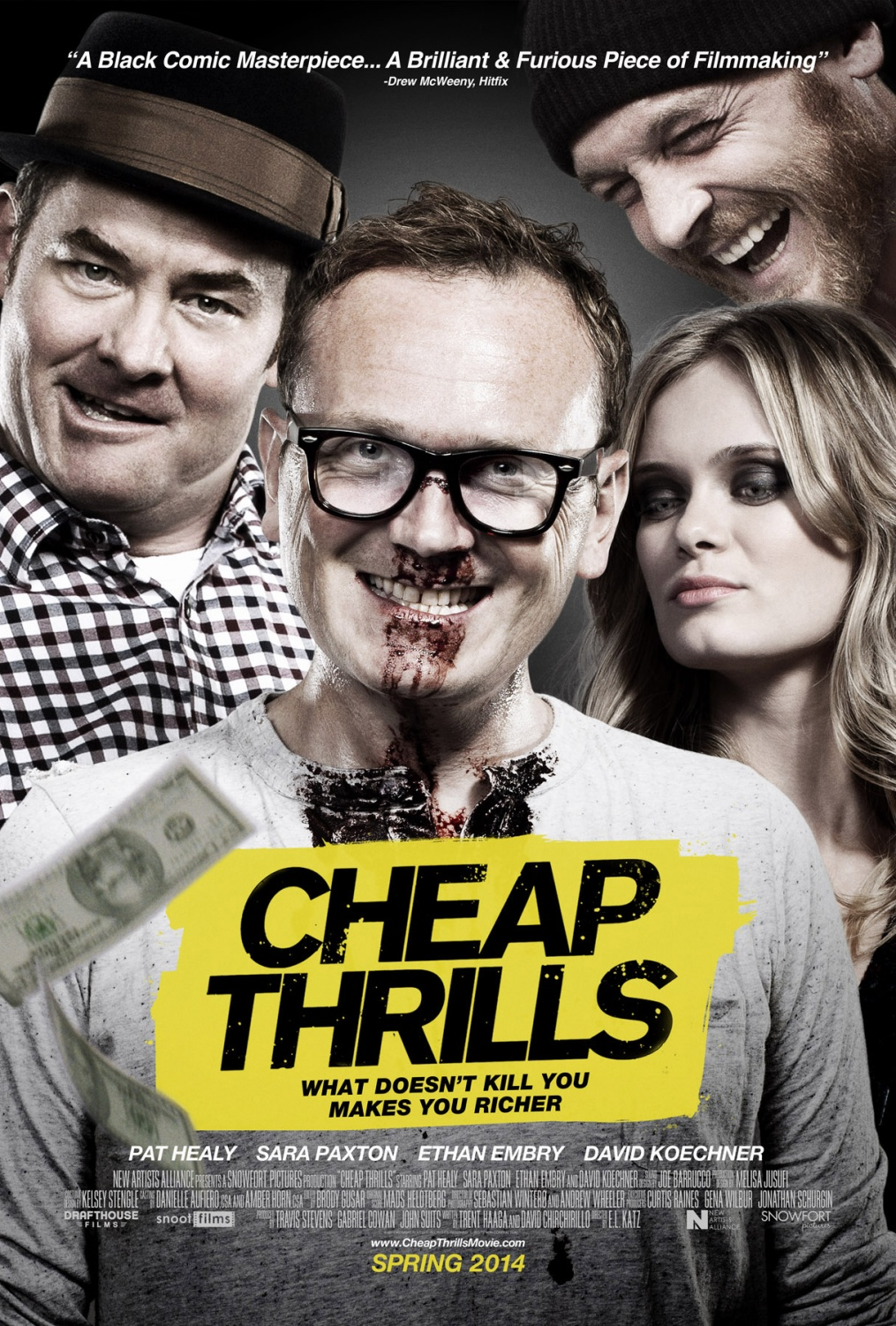 cheap thrills poster  large David Koechner Has a Warning For Anyone Who Talks or Texts During Cheap Thrills (Exclusive)
