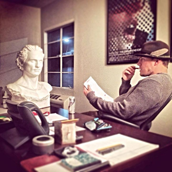 tatummagicmike2 Your Favorite Thing Today: Channing Tatum Writes Magic Mike 2 Next to a Sculpture of Matthew McConaughey