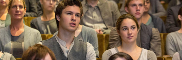 Ansel Elgort and Shailene Woodley in Divergent
