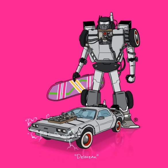 Transformer%20Delorean%20(585%20x%20585) If the Back to the Future DeLorean Was a Transformer, Itd Probably Look Like This