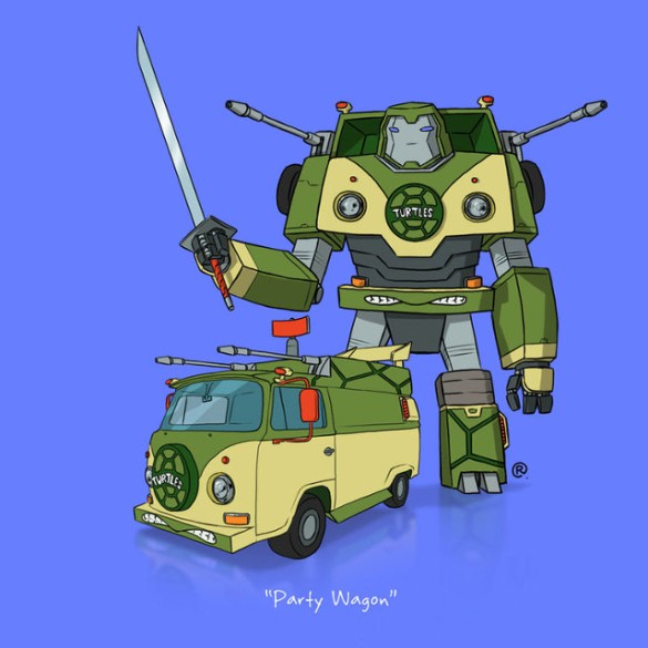 Teenage Mutant Ninja Turtles Transformers art