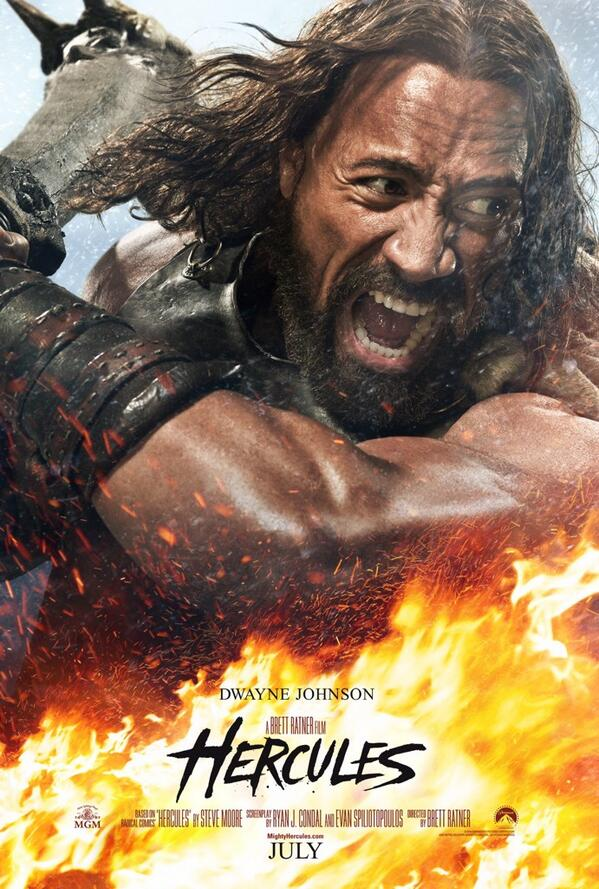 Hercules poster the rock