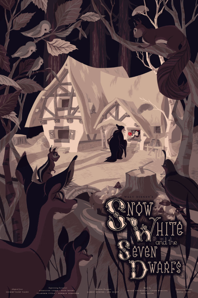 Snow White and the Seven Dwarfs  by Anne Benjamin. The Best Thing You ll See Today  Mondo s Disney Posters   Movie