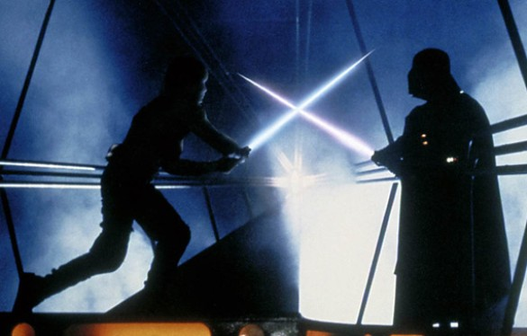 Star Wars Lightsaber battle