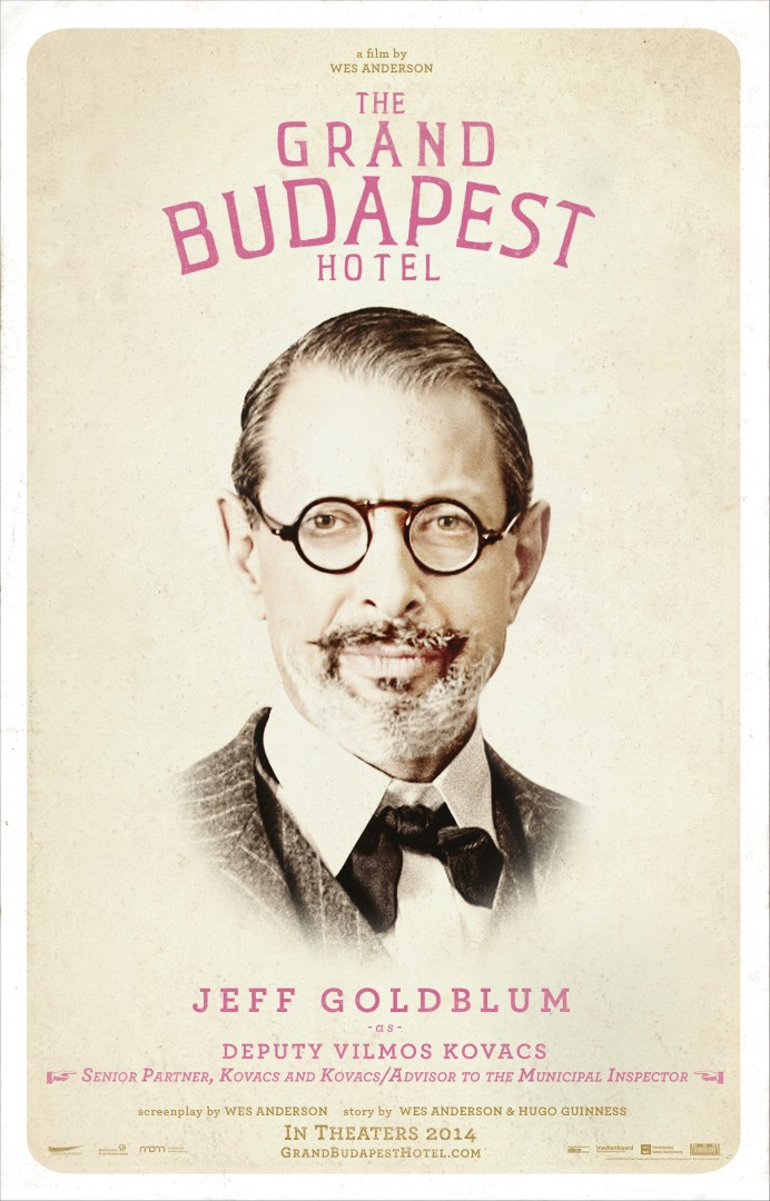 The Grand Budapest HotelJeff Goldblum Poster