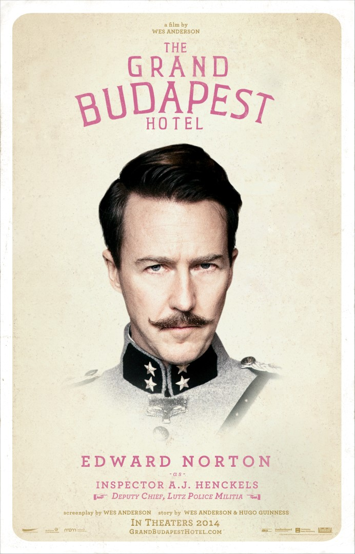 The Grand Budapest Hotel Edward Norton Poster