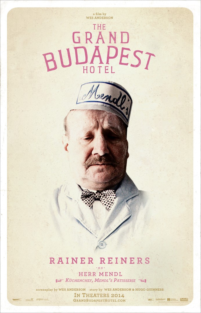 The Grand Budapest Hotel Rainer Reiners Poster