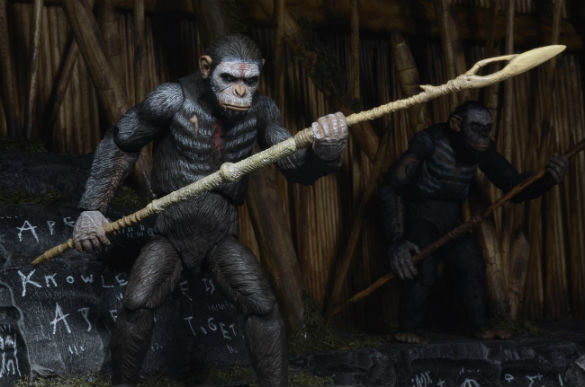 mdc Dawn of the Planet of the Apes toy images 1 Movie News: Apes Toys in Action; David Fincher Drops Steve Jobs; Philip Seymour Hoffman in Gods Pocket Trailer