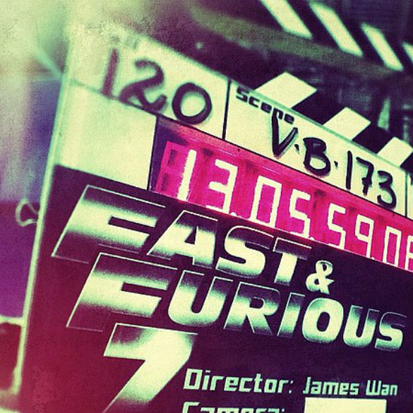 mdc fast furious 7 resumes 585 Movie News: Fast & Furious 7 Resumes Production (Photo); Pink Panther Returning; Red Band Sex Tape Trailer