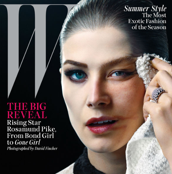 w mag rosamund pike fincher 585 Movie News: Gone Girl Magazine Cover; Tarantinos Hateful Eight Live Read; First Star Wars Rebels Clip