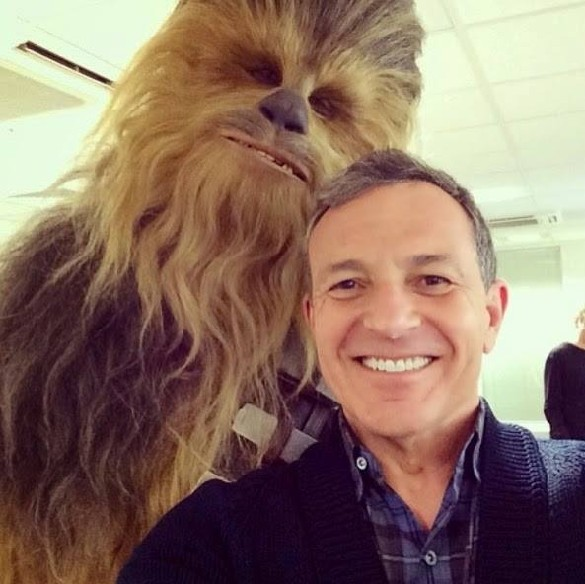 Chewbacca and Bob Iger