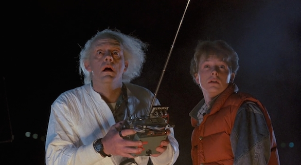 Marty and Doc in Back To The Future Your Top Three: Time Travel Movies