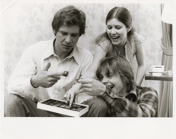 Star Wars Fisher, Ford, Hamill behind the scenes