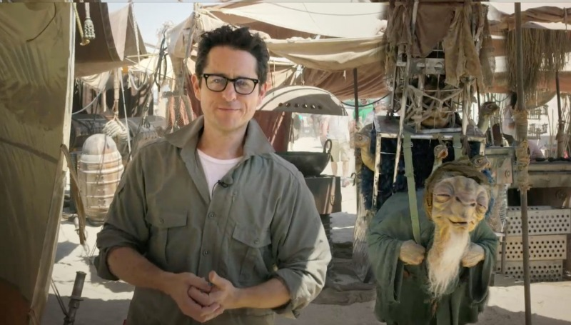 jjstarwarsset Watch: J.J. Abrams Gives Our First Look at the Set of Star Wars: Episode VII