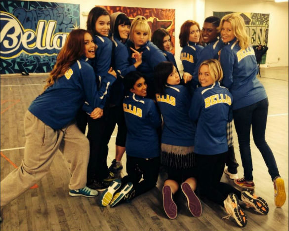 pitch perfect 2 rehearsal bts 585 Movie News: First Pitch Perfect 2 Photo; Harrison Ford Offered Blade Runner 2; First Cinderella Teaser