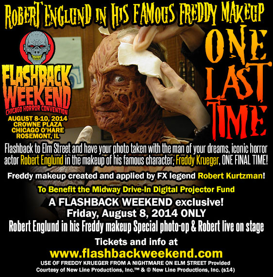 FBW2014 Robert Englund Makeup Website Graphic v01 Where to See Robert Englund Become Freddy Krueger One Last Time