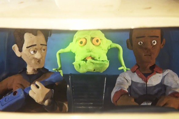 Ghostbusters Claymation 3 (585 x 390) Ghostbusters Meets Quentin Tarantino in this Awesome Lee Hardcastle Claymation Mash up