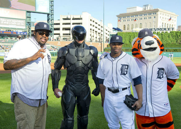 RoboCop at Comerica Park in Detroit