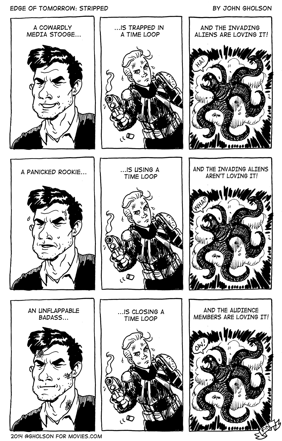 Edge of Tomorrow Comic Strip review