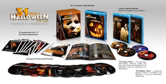 Halloween Complete Collection (585 x 295) Last Horror Blog: Halloween Box Set Unveiled, The Squad Trailer, Almost Human Review, and More