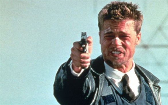 Seven Brad Pitt (585 x 366) Trivia: This Upcoming Movie Was Originally Developed As a Sequel to Se7en