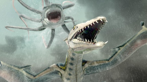 Sharktopus vs Pteracuda art
