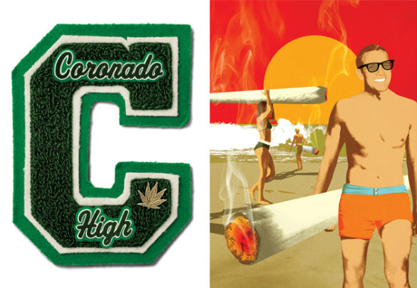 coronado high surfers weed gq magazine july 2013 01 585 Movie News: First Image From Pixars Lava; New Clip From Robin Wrights The Congress