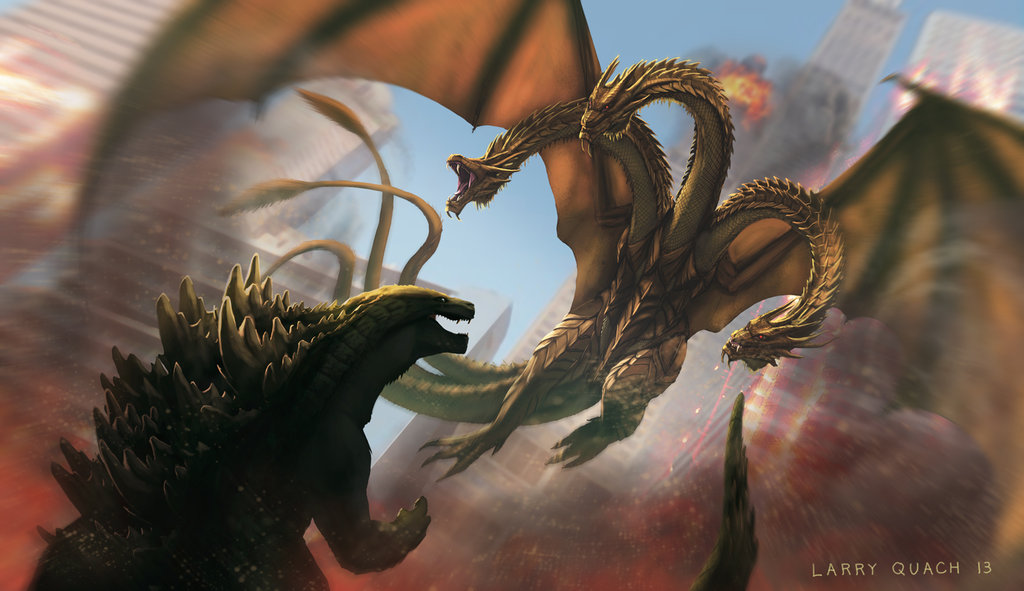 godzilla vs king ghidorah by nobackstreetboys d5wwcbi Comic Con: These Are the Monsters Fighting Godzilla in Godzilla 2