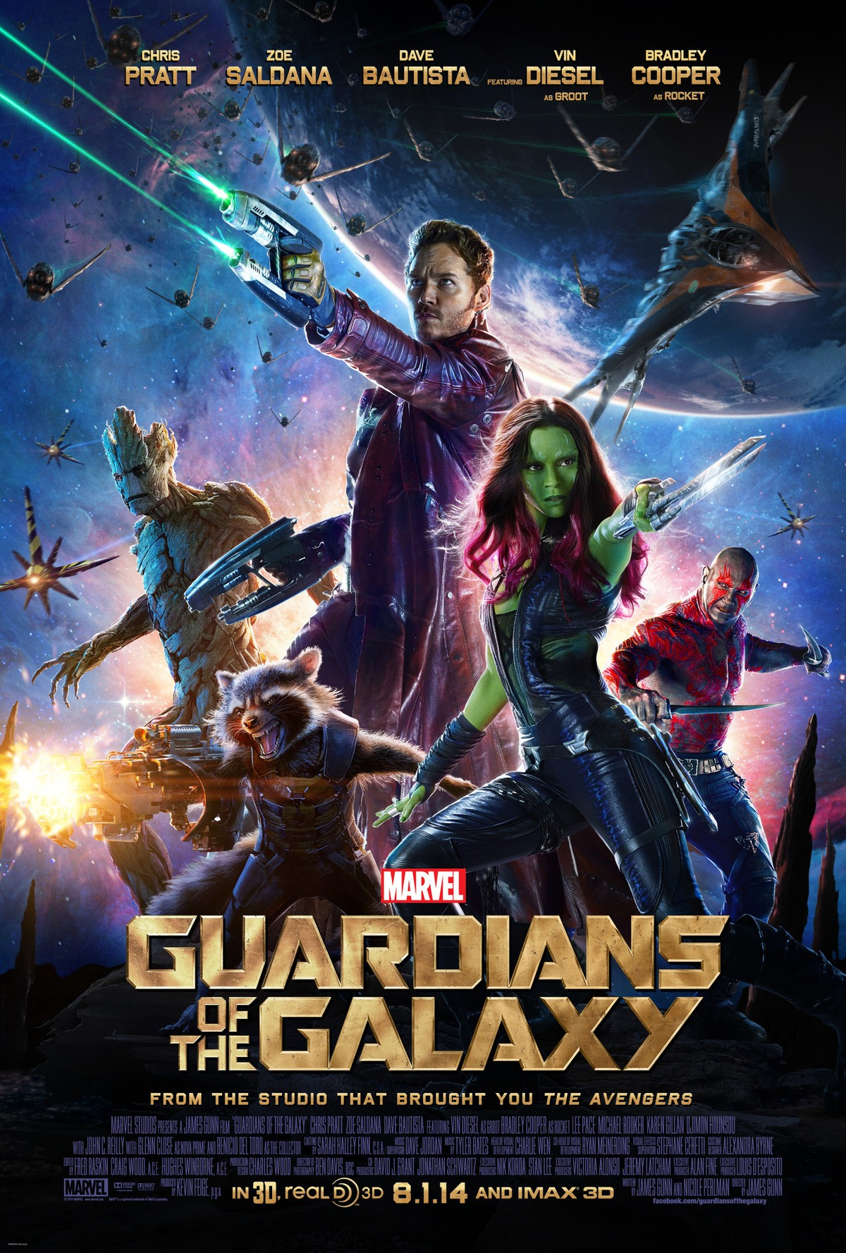 guardians poster Comics on Film: Ranking 2014s Comic Book Movies