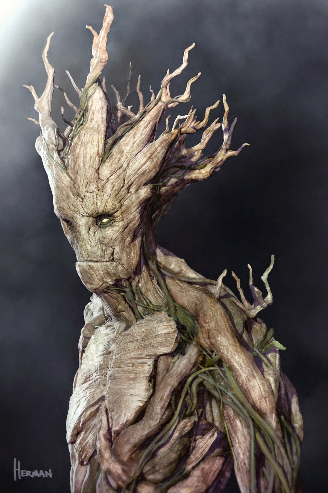 Guardians of the Galaxy concept art Groot