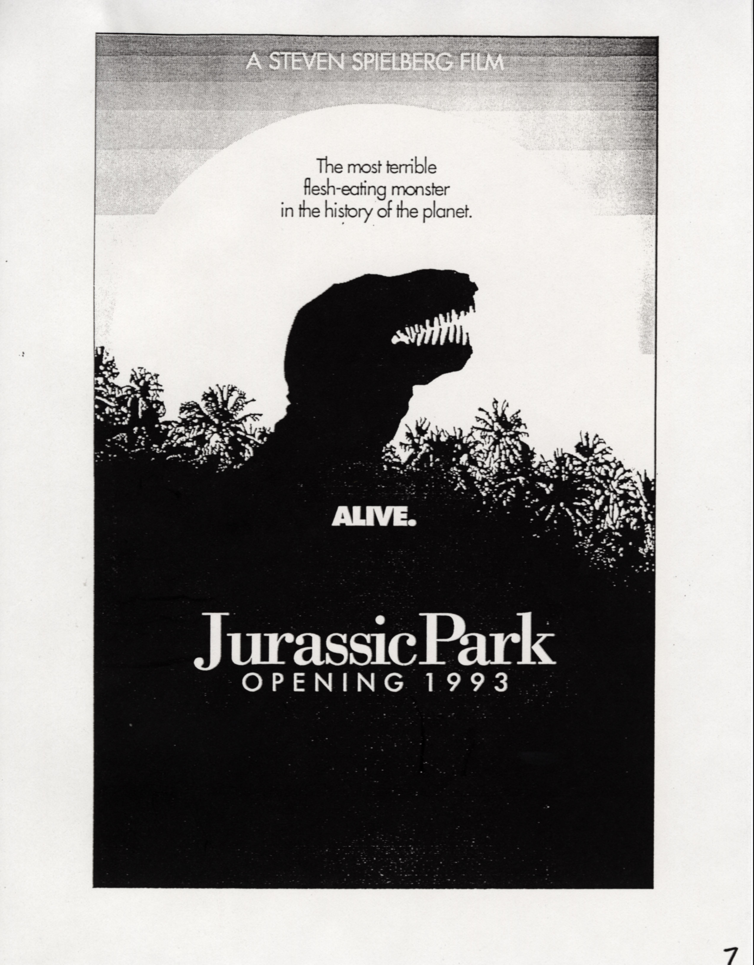 John Alvin   Jurassic Park poster   11 Exclusive: Over a Dozen Never Before Seen Jurassic Park Posters From Famous Artist John Alvin