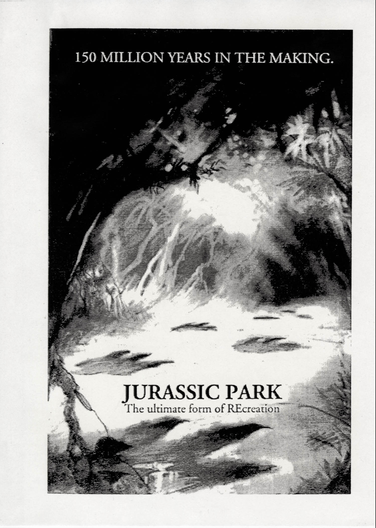 John Alvin   Jurassic Park poster   2 Exclusive: Over a Dozen Never Before Seen Jurassic Park Posters From Famous Artist John Alvin