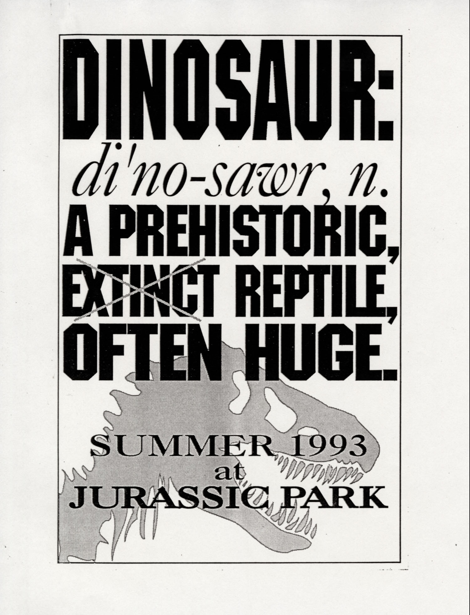 John Alvin   Jurassic Park poster   4 Exclusive: Over a Dozen Never Before Seen Jurassic Park Posters From Famous Artist John Alvin