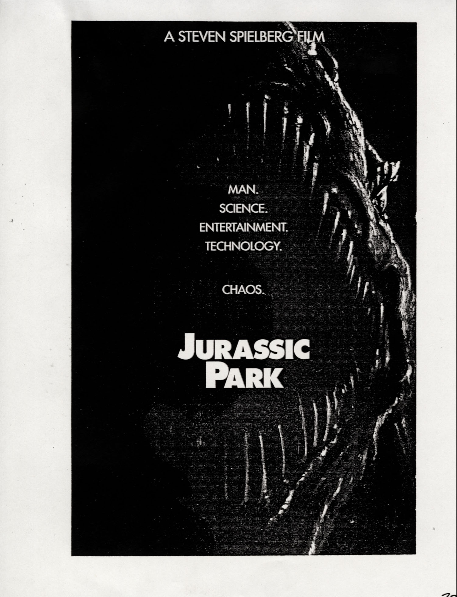 John Alvin   Jurassic Park poster   6 Exclusive: Over a Dozen Never Before Seen Jurassic Park Posters From Famous Artist John Alvin